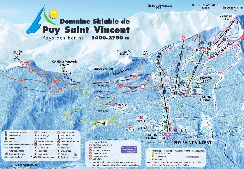 Wyjazdy na Narty Francja Mapa tras