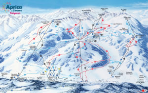 mapa tras narciarskich Aprica